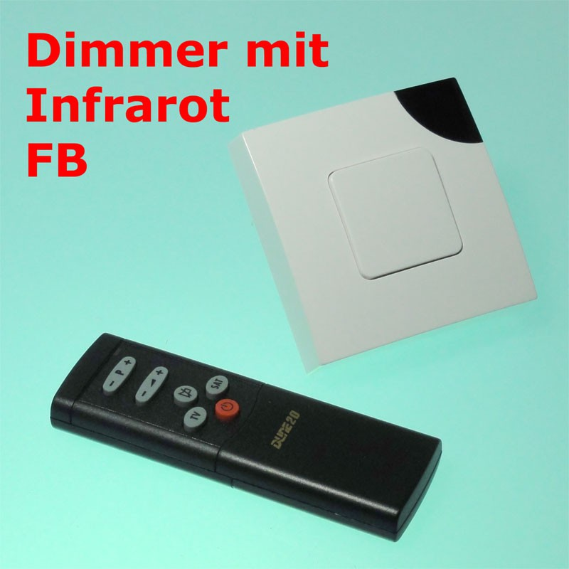 300w up dimmer mit infrarot fernbedienung haus garten. Black Bedroom Furniture Sets. Home Design Ideas