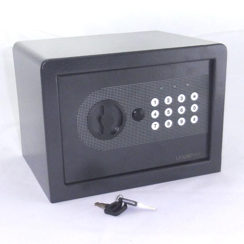 tr sor coffre meuble coffre fort avec code chiffr cl d 39 urgence 6 l anthracite ebay. Black Bedroom Furniture Sets. Home Design Ideas